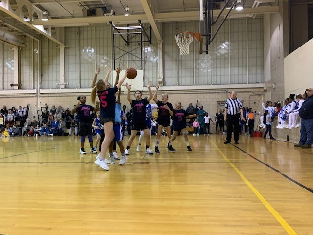 Girls Basketball Team in Action